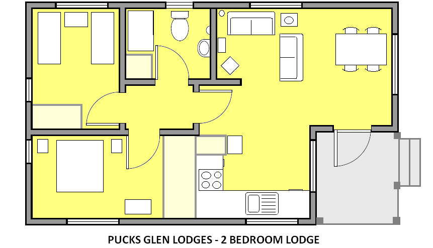 2 Bedroom Lodge PLAN